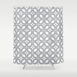 Starburst - Grey Shower Curtain