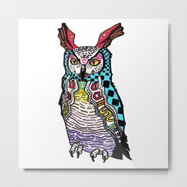 Mayan NightOwl Metal Print