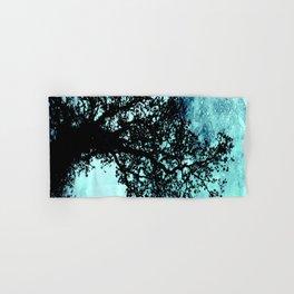Black Trees Elegant Aqua Space Hand & Bath Towel