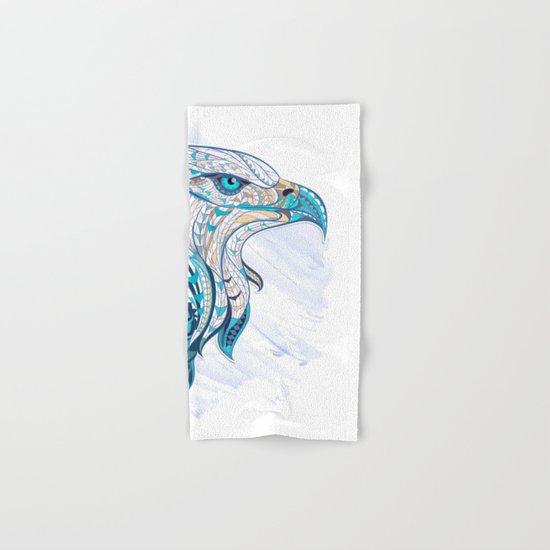 Blue Ethnic Eagle Hand & Bath Towel