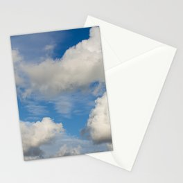huge cumulus clouds nimbus over the blue sky Stationery Cards