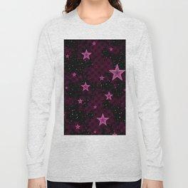 Pink Neon Stars Long Sleeve T-shirt