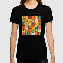 VINTAGE ALPHABET T-shirt