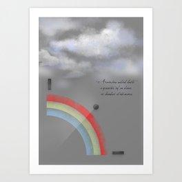 A quarter rainbow Art Print