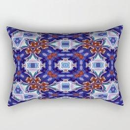 A Little Bit Country Blue Floral Pattern Rectangular Pillow