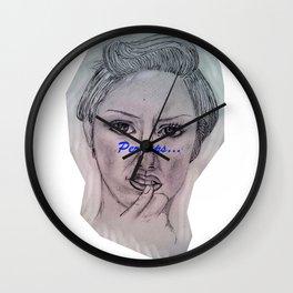 An Woman Wall Clock
