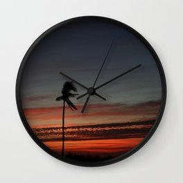 Lonely Sunset Wall Clock