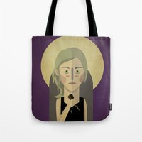buffy Tote Bags featuring Buffy The Vampire Slayer by Gary  Ralphs Illustrations