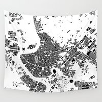 rome Wall Tapestries featuring ROME by Maps Factory
