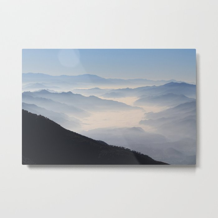 Blue Valley #mountains Metal Print