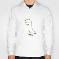 t rex Hoodies featuring t-rex by Liffy Designs