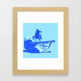 Blue Songbird Joni Mitchell Framed Art Print