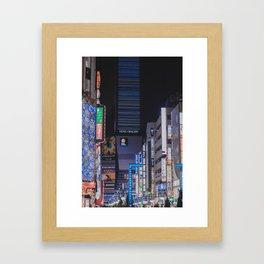 Tokyo feels: shinjuku blue Framed Art Print