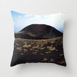 Mount Etna Sicily Throw Pillow