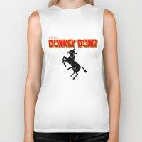 donkey Biker Tanks featuring Donkey Dong by Metscha