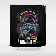Music Coaster Shower Curtain