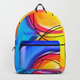 Paint abstract circle Backpack