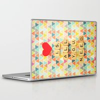 all you need is love Laptop & iPad Skins featuring Love is All You Need by happeemonkee