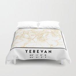 YEREVAN ARMENIA CITY STREET MAP ART Duvet Cover