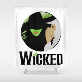 broadway musical wicked Shower Curtain
