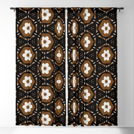 Retro Cookie Pattern. Blackout Curtain