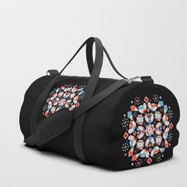 Folkloric Ombre Lovebirds Duffle Bag