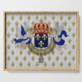 France Colonial Flag Old-fashioned Restored Commemorative Wallpaper Mineral Serving Tray