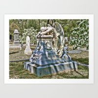 Weeping Angel 2 Art Print