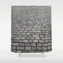 cobble stone pavement Shower Curtain