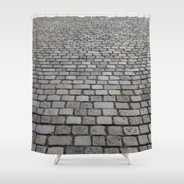 cobble stone pavement Shower Curtain