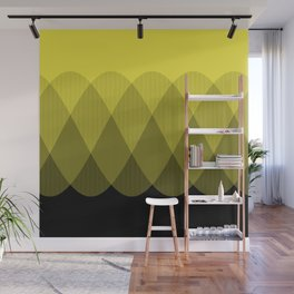 Yellow Ombre Signal Wall Mural