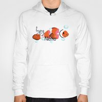 finding nemo Hoodies featuring frying nemo by Lazar Alex