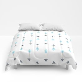 Blue Arrow Comforters