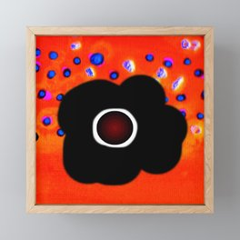 Hole and black flower Framed Mini Art Print