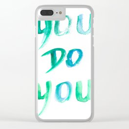 150226 Typography 18 Clear iPhone Case