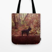 frenchie Tote Bags featuring Frenchie by Krizan