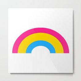 Pansexual Rainbow Metal Print