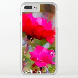 Rote Rosen Clear iPhone Case