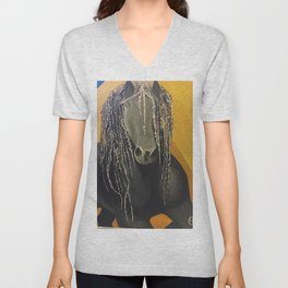 Yellow Horse Unisex V-Neck