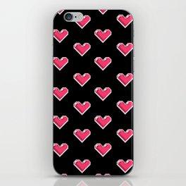 Pixel Hearts Pattern iPhone Skin