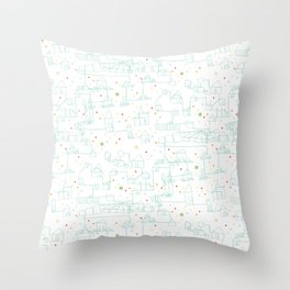 Happy Community Throw Pillow