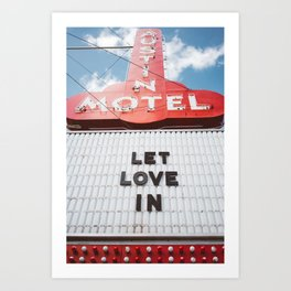 Let Love In Art Print