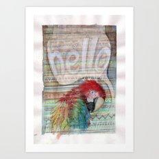 Hello Parrot Art Print
