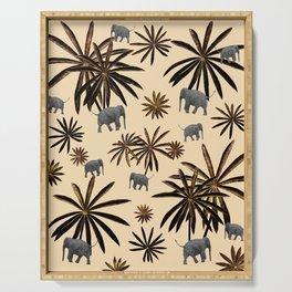 Palm Tree Elephant Jungle Pattern #3 (Kids Collection) #decor #art #society6 Serving Tray