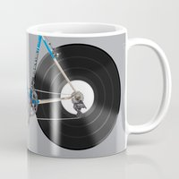 bicycle Mugs featuring  bicycle by mark ashkenazi