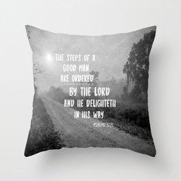Steps of a Good Man Bible Verse Throw Pillow