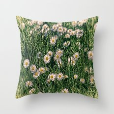 Daisy Carpet. Throw Pillow