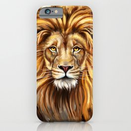 Artistic Lion Face iPhone Case