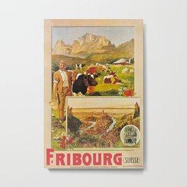 Vintage poster - Fribourg Metal Print