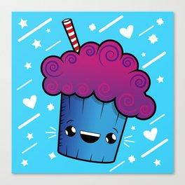 Cute Kawaii Ice Cream Drink Canvas Print